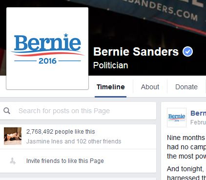 bernie-facebook-profile